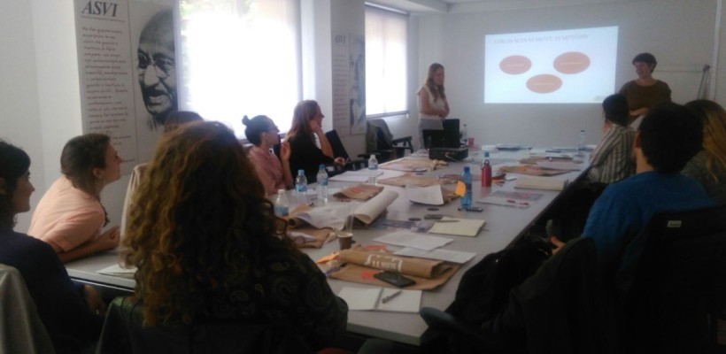 """HOPE students in Madrid for the Workshop """"Working in Emergencies"""""""