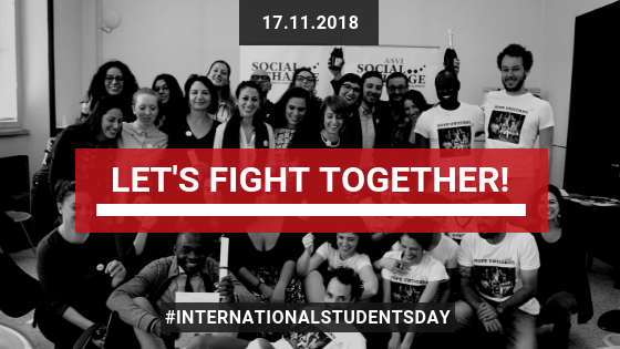 EDITORIAL. Let's fight together! 17th of November, International Students' Day. – A comment by M. Crescenzi